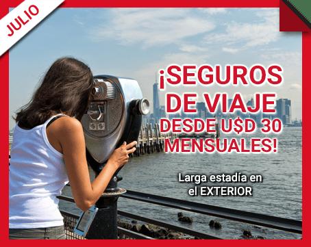¡Seguros de viaje desde U$D 30 mensuales!