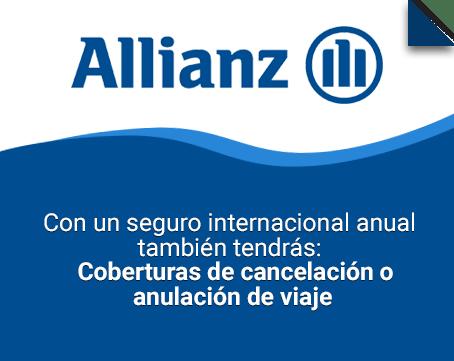 Allianz Assistance. Con un seguro internacional anual también tendrás: