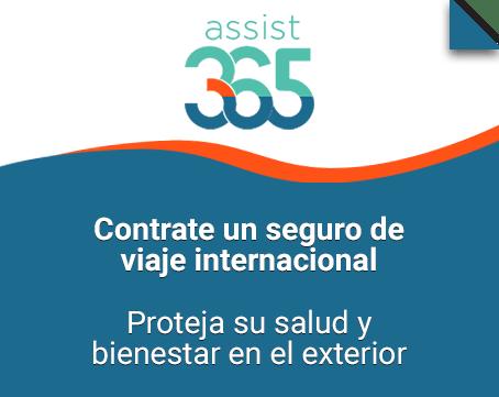 Seguro de viaje internacional Assist 365