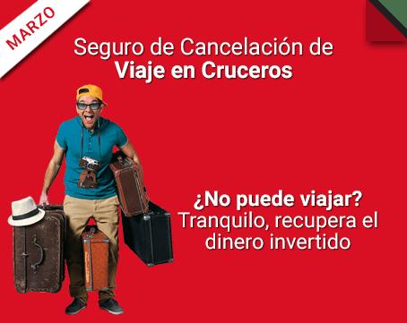 Seguro de cancelación de Viaje en Cruceros